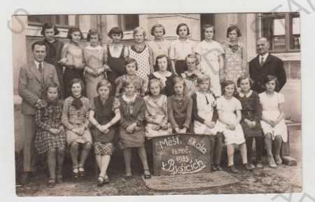 Byšice (Mělník), škola, dítě, společné foto