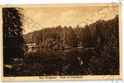 Lázně Kynžvart Cheb zámecký park