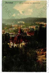 Mariánské Lázně Cheb částečný záběr města