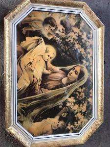 KRÁSNÝ SVATÝ OBRAZEM PANNA MARIE ZASKLENÝ