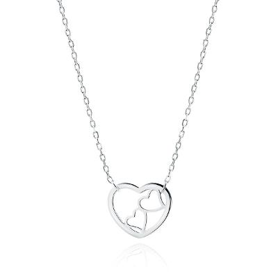 Náhrdelník stříbro 925/1000 Heart double