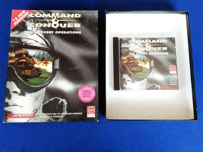 PC - COMMAND a CONQUER THE COVERT OPERATONS - BIG BOX (retro 1996) Top