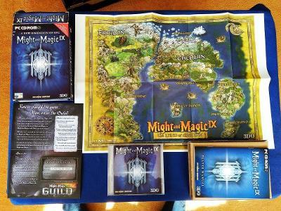 PC - MIGHT AND MAGIC IX - BIG BOX malý (retro 2002) Top