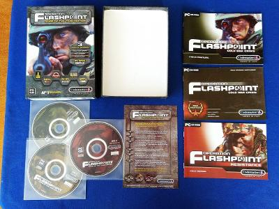 PC - OPERATION FLASHPOINT - 3x hra - BIG BOX malý(retro 2001-2002) Top