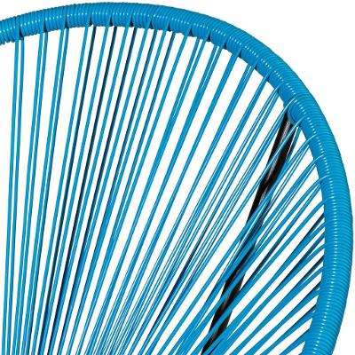 tectake 403311 sada 2 židlí gabriella se stolkem - modrá