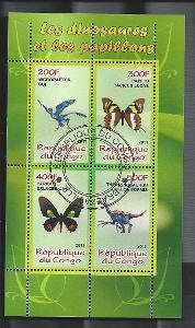 Kongo 2011 - dinosauři a motýli - Microraptor, Therezinosaurus