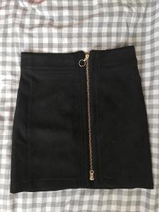 ESMARA -Dámská lux.pouzdrová, elastická  sukně,vzhled semiše, XS/34.