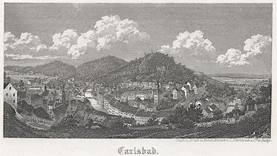 Karlovy Vary, Dittmarsch,  oceloryt (1850)