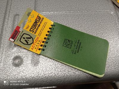 Zápisník - blok voděodolný - khaki