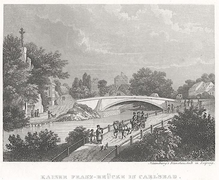 Karlovy Vary, Naumburg, oceloryt (1850) - Antikvariát
