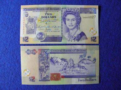 2 Dollars 1.9.2007 Belize - P66c - UNC - /C54 /
