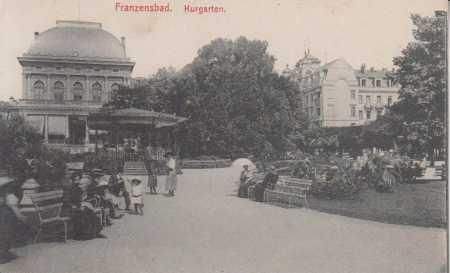 Františkovy Lázně (Franzensbad)- lázeňská zahrada