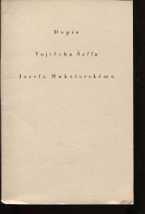Dopis Vojtěcha Šaffa Josefu Mukařovskému