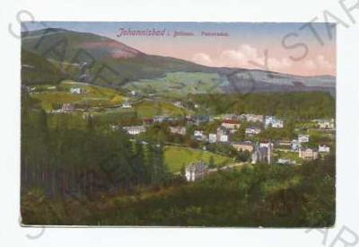 Jánské Lázně Trutnov pohled na město z výšky