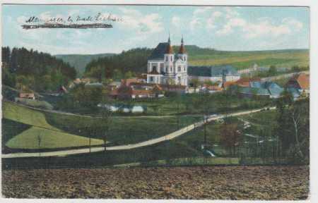 Poutní místo Stará Voda u Libavé, kostel, kolorova
