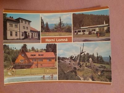 Pohlednice Horní Lomná,prošlé poštou