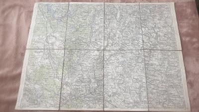 Vojenská mapa 1931-České Velenice-Gmünd-Jižní Čechy-Pohraničí