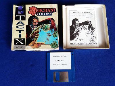PC - MERCHANT COLONY - disketa 3.5 - BOX (retro 1994) Top