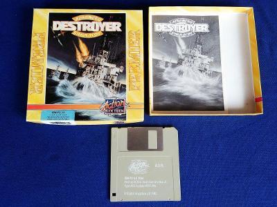 PC - ADVANCED DESTROYER SIMULATOR - disketa 3.5 - BOX (retro 1992) Top