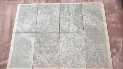 Vojenská mapa 1930-Český Krumlov-Kremže-Volary-Hor.Planá-Hořice