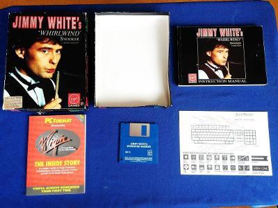 PC - JIMMY WHITE´S WHIRLWIND SNOOKER disketa 3.5 BIG BOX (retro 1992)