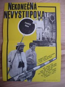 Nekonečná - nevystupovat (filmový plakát, film ČSSR 19