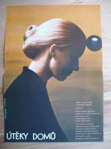 Útěky domů (filmový plakát, film ČSSR 1980, režie Ja
