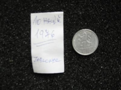10 haléř - 1976 - mince nečištěná z peněžního oběhu