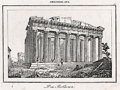 Parthenon, Le Bas, oceloryt 1840