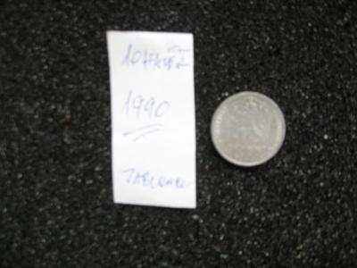 10 haléř - 1990 - mince nečištěná z peněžního oběhu