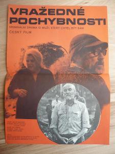 Vražedné pochybnosti (filmový plakát, film ČSSR 1978,
