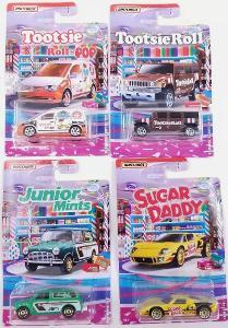 4x Matchbox Candy Series - (Austin,Hummer,Ford,Volkswagen)