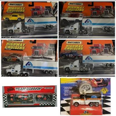 6x Matchbox Convoy (MIX - Peterbilt,Ford Aeostar atd))