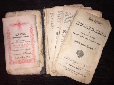 náboženská, modlitební kniha - ŘEČI, EPIŠTOLY A EVANGELIA, ROK 1872