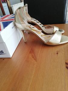 Cuple-Lux.dámské společenské,sandály na jehlovém podpatku,40.