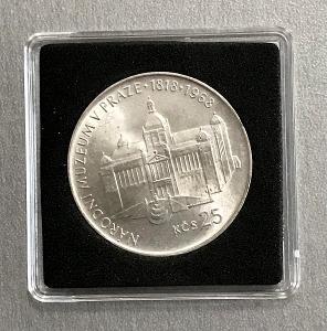 Stříbrná mince 25 Kčs Národní muzeum v Praze 150. výročí 1968