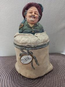 Starožitná figurální doza na tabák zn. Johan Mareš