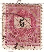 Madarsko 1888 Mi 30 raz. Mezo-Kovesd
