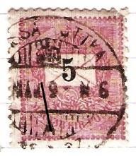 Madarsko 1888 Mi 30 raz. zeleznicne