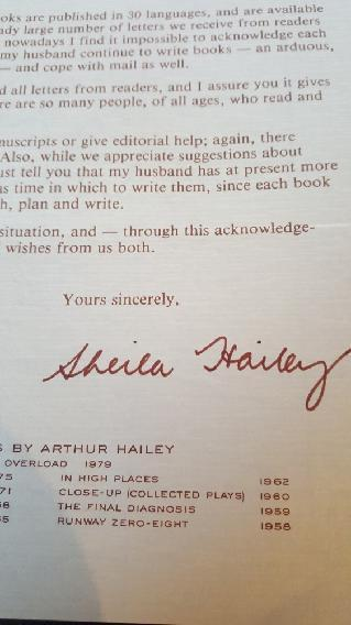 Sheila Hailey autogram