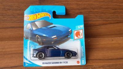 Hot Wheels ´89 Mazda Savanna RX-7 FC3S mint stav MODRÁ