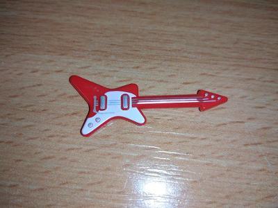 Lego díl 17356 - kytara červená