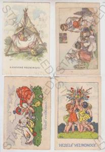 4x Marie Fischerová - Kvěchová, Velikonoce, dítě,