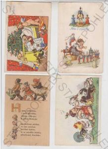 4x Marie Fischerová - Kvěchová, Vánoce, dítě, stro