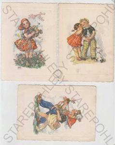 6x Marie Fischerová - Kvěchová, dítě, květina, pes