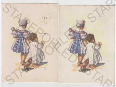 4x Marie Fischerová - Kvěchová, dítě, hračka, matk