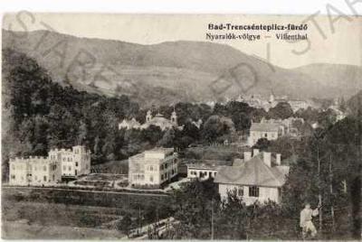 Trenčianské Teplice Trenčín částečný záběr města