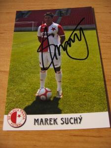Marek Suchý - Slavia Praha - orig. autogram