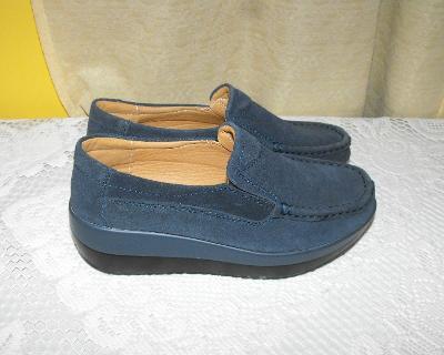 Pohodlné botičky na platformě a klínku vel.38