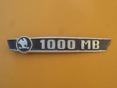 Škoda 1000MB znak zadni kapoty    original